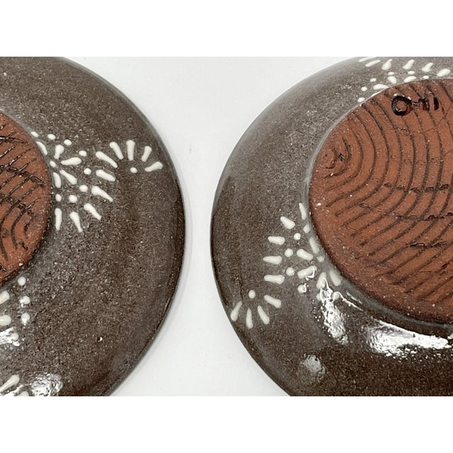 Hand Made Earthenware Lizella Clay Accent Soap Dish Small Accent Plates - a Pair For Sale In Atlanta - Image 6 of 7