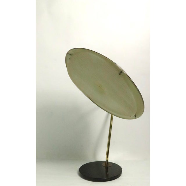 Black Mid Century Disk Lamp by Thurston for Lightolier For Sale - Image 8 of 10
