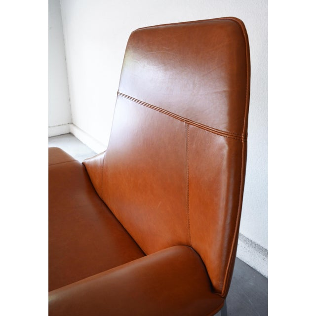 Modern Leather and Chrome Chaise Lounge Chair by Mark David Design For Sale - Image 9 of 13