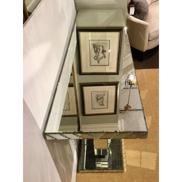 Maitland Smith Modern Mirrored Console Table For Sale - Image 10 of 12