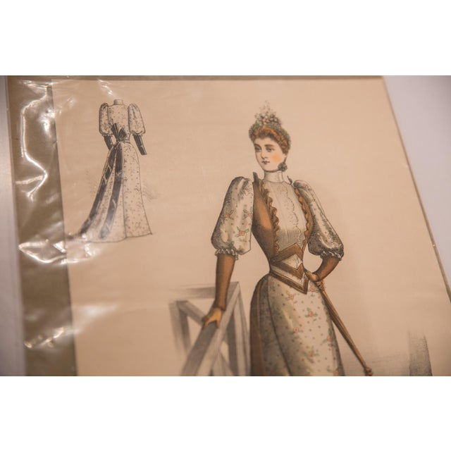 Figurative Antique l'Arte De Le Mode Print For Sale - Image 3 of 5