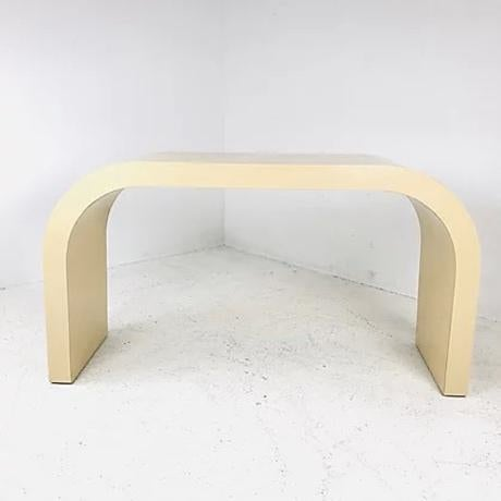 1970s 1970s Waterfall Sofa Table For Sale - Image 5 of 7