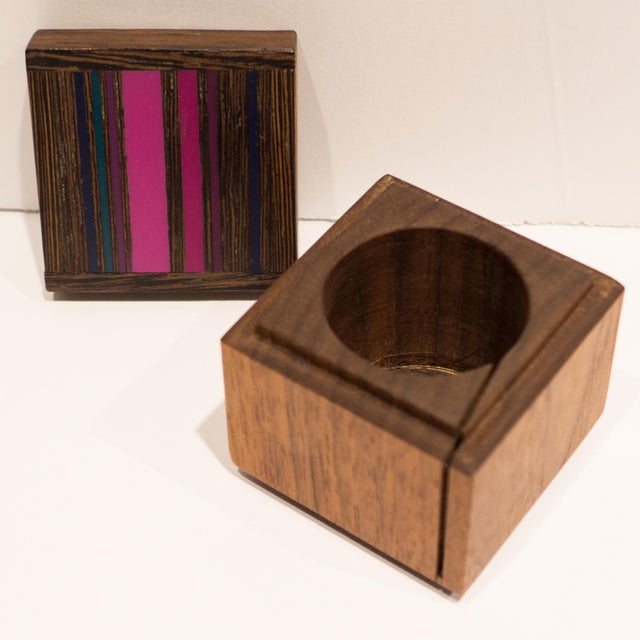 Robert McKeown Stamp Box with Stripes For Sale In New York - Image 6 of 8