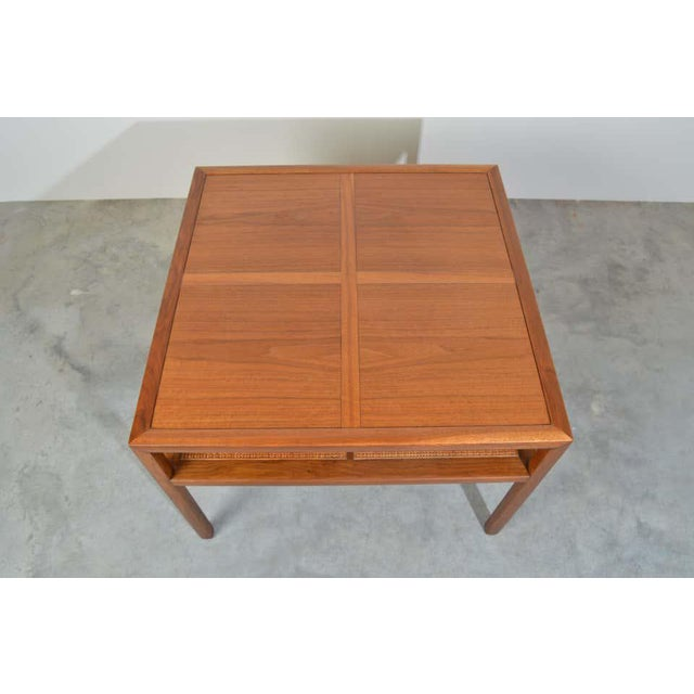1950s Michael Taylor for Baker Furniture Square Cocktail Table For Sale - Image 5 of 7