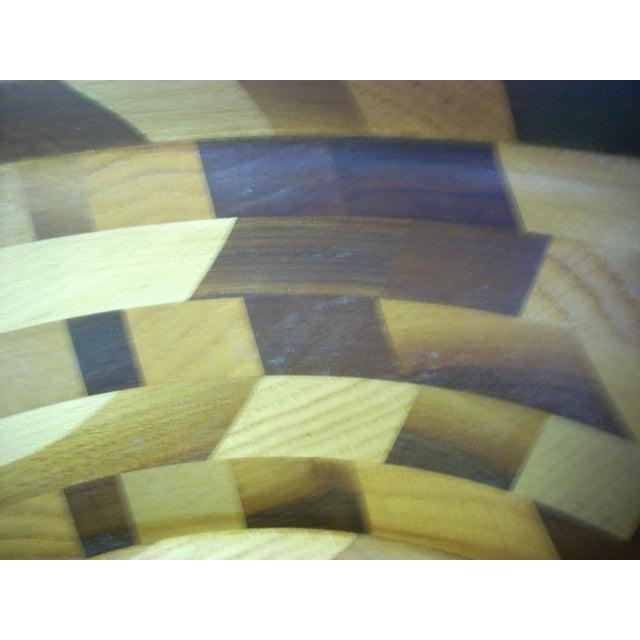 2000 - 2009 Tom Sullivan Geometric Mixed Wood Salad Bowl For Sale - Image 5 of 6