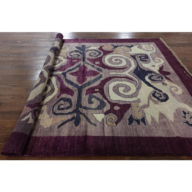 "Modern Signed Kaitag Hand Knotted Rug - 7' 8"" X 9' 10"" - Image 7 of 8"
