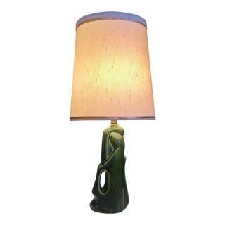 Mid-Century Biomorphic Glazed Ceramic Lamp