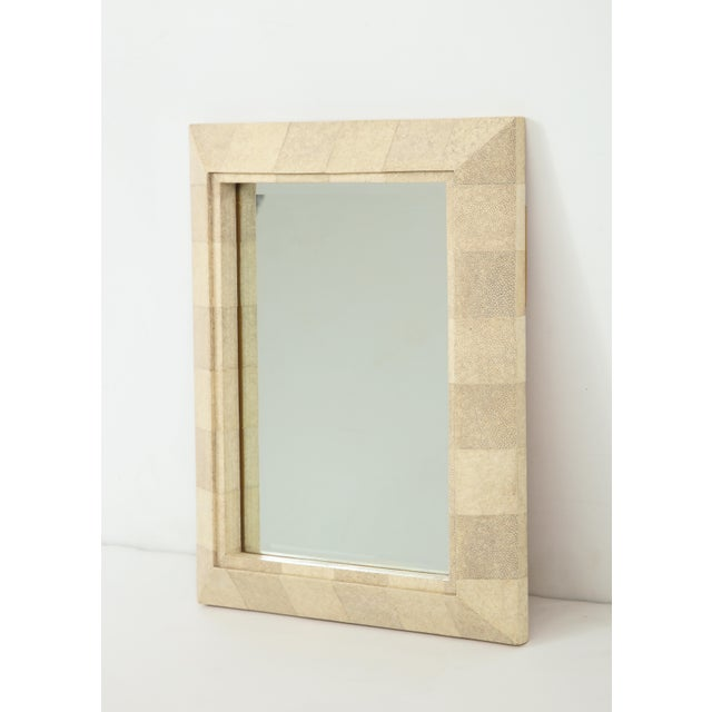 Mid-Century Modern R & Y Augousti Mirror With Shagreen Frame For Sale - Image 3 of 10