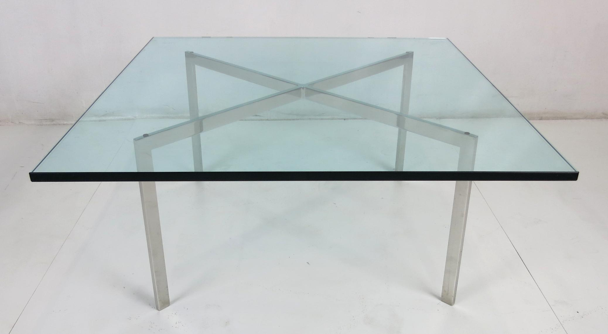 Early Barcelona Coffee Table By Mies Van Der Rohe For Knoll   Image 4 Of 5