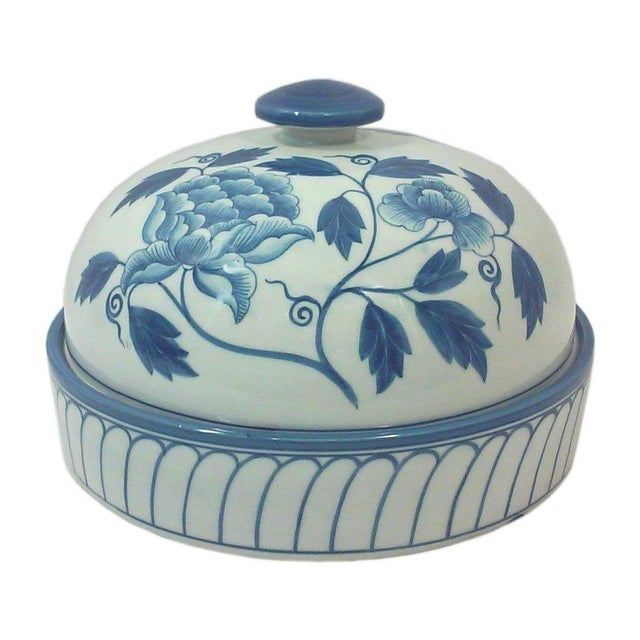 Maitland-Smith Dome Covered Peony Dish - Image 1 of 4