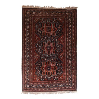 "1920's Antique Qashqai Persian Rug-5'11"" X 8'9"" For Sale"