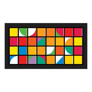 """Groove #4"" Contemporary Geometric Limited Edition of 45 Reproduction Print For Sale"