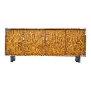 Mid Century Modern Burlwood Cabinet