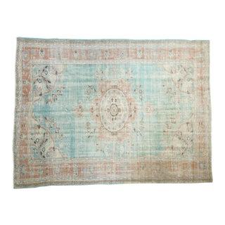 "Vintage Distressed Oushak Carpet - 6'5"" X 8'4"" For Sale"