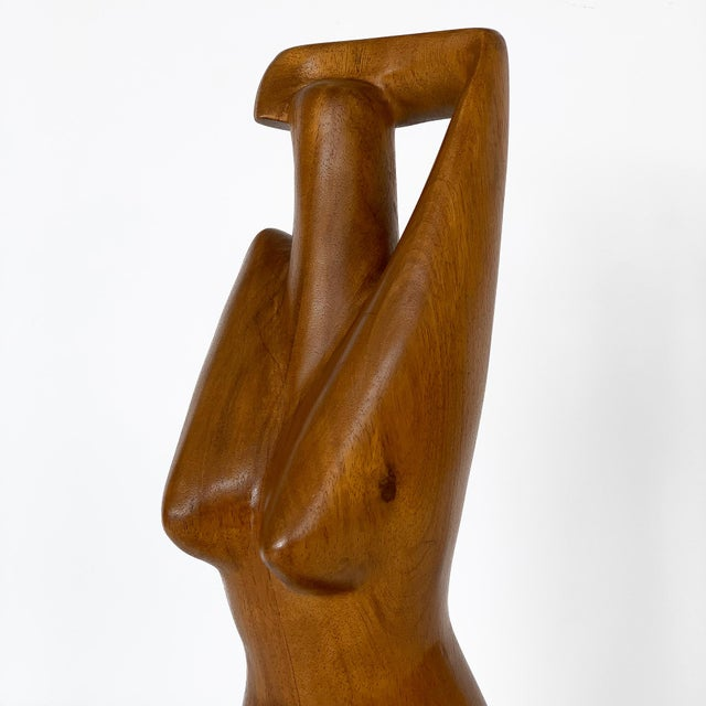 Brown G. Lynch Carved Solid Wood Nude Abstract Sculpture For Sale - Image 8 of 13