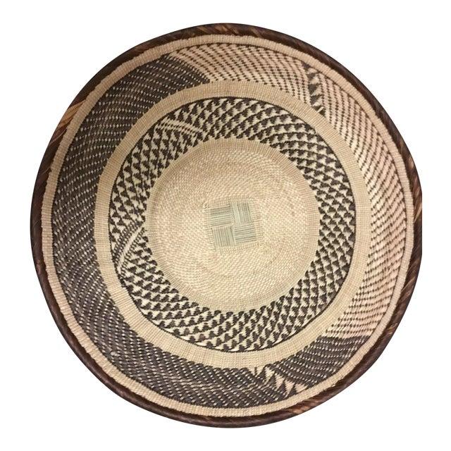 Binga Basket | Tonga Baskets 42 |African Basket | Woven Basket |Zimbabwe Basket |Ethnic Pattern |Ethnic Decor |Wall Hanging Basket - Image 1 of 6