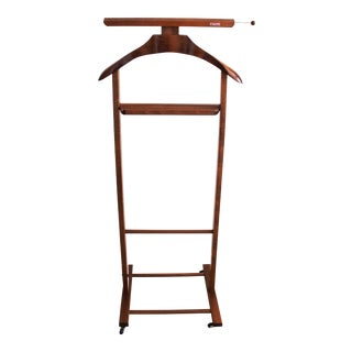 1950s Italian Reguitti Mahogany Rolling Valet Stand For Sale