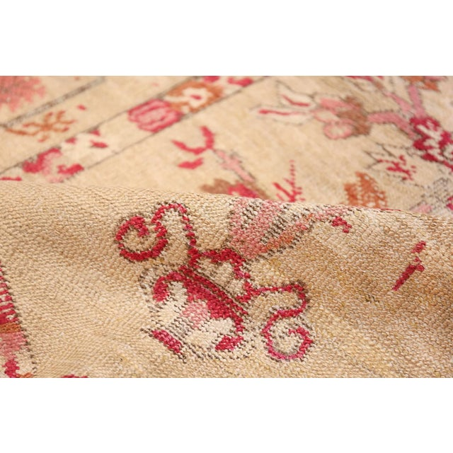 Antique Shabby Chic Tribal Turkish Ghiordes Rug - 3′5″ × 6′6″ For Sale - Image 4 of 10