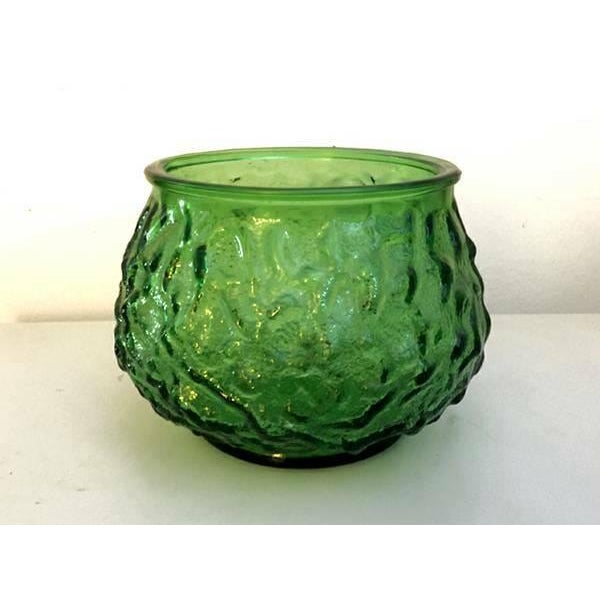 EO Brody Vintage Mid-Century Green Textured Glass Vase - Image 2 of 3
