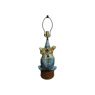 Drip Glaze Clown Lamp