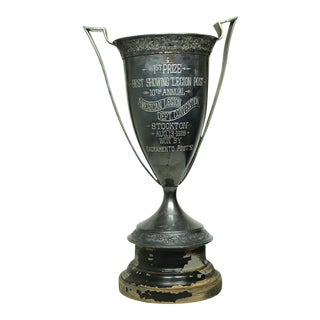 "Monumental 17"" H Silver Plated Cup Trophy, 1961"