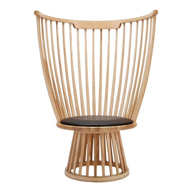 Tom Dixon Fan Chair in Natural For Sale