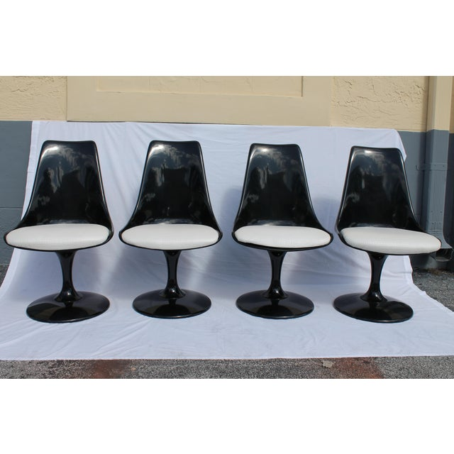 Mid-Century Modern 1960s Knoll-Style Black Dining Set For Sale - Image 3 of 11