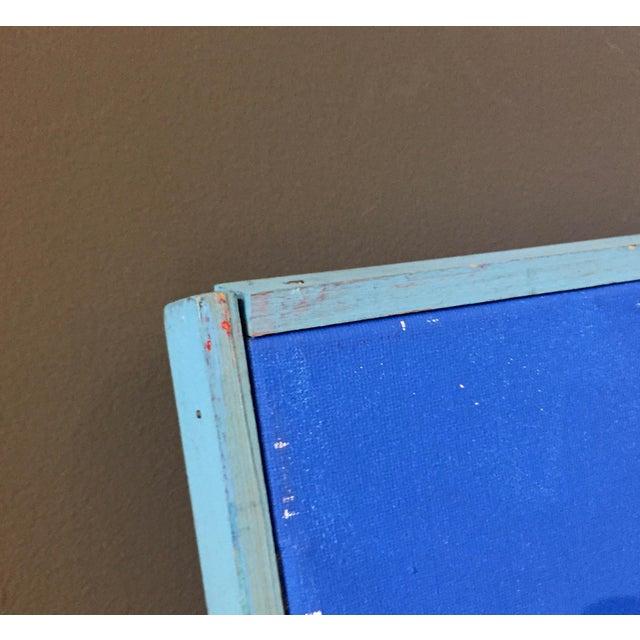 "Acrylic Patrick Moya ""Mercure Bleu"" Acrylic, France For Sale - Image 7 of 9"