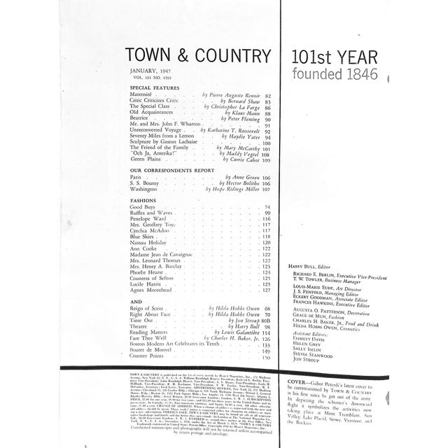 Town & Country January 1947 For Sale In New York - Image 6 of 11