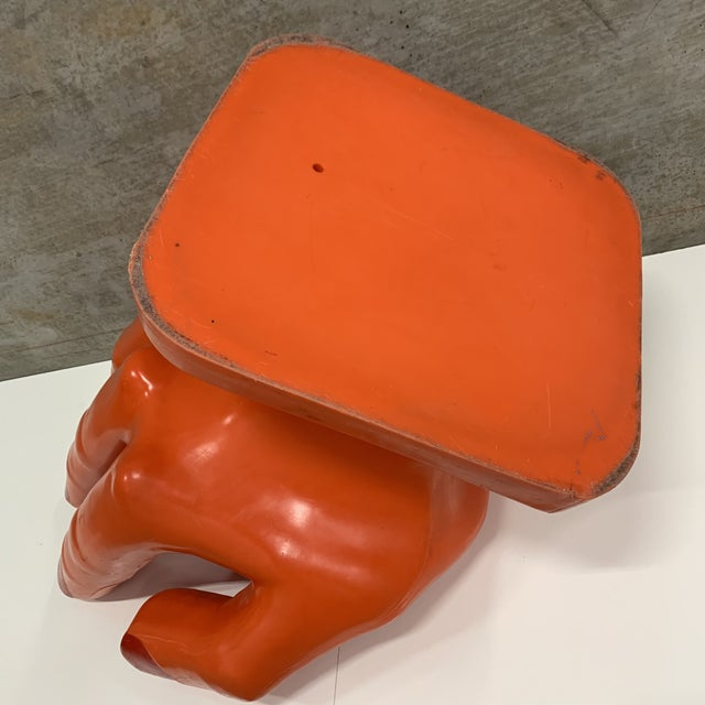 Persimmon Vintage Modern Plastic Molded Hand Chair For Sale - Image 8 of 10