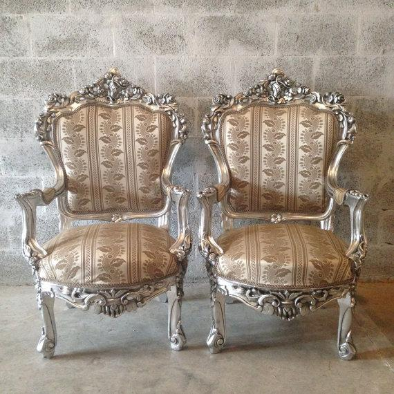 Italian Baroque Chairs in Gold Leaf - Pair - Image 2 of 5