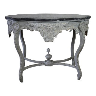 19th Century French Painted & Carved Center Table