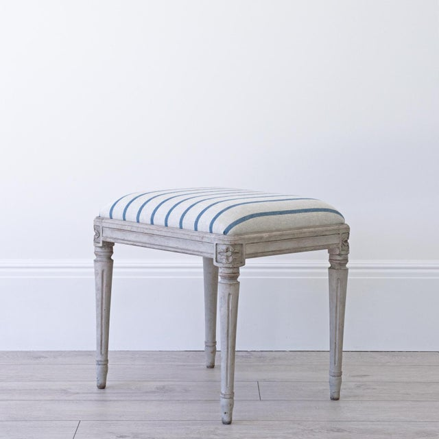 Not Yet Made - Made To Order Astrid Swedish Gustavian Stool For Sale - Image 5 of 5
