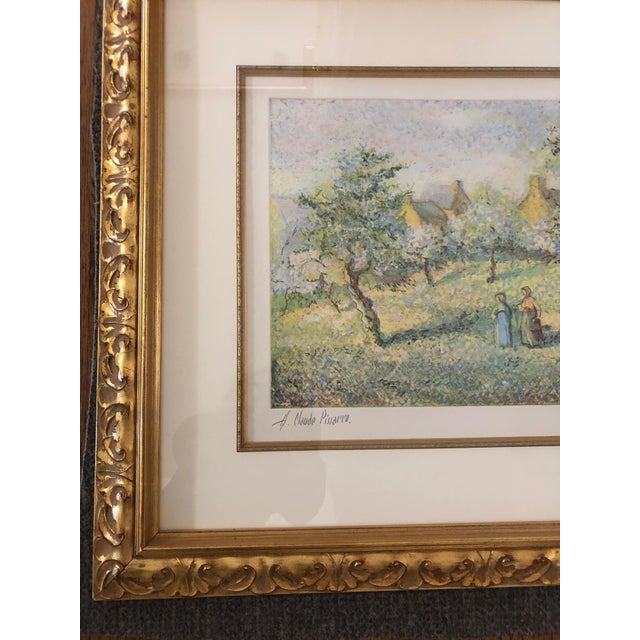1900s Impressionist Print of Framed Trees in Bloom Aquatint Signed by H Claude Pissarro For Sale - Image 11 of 12