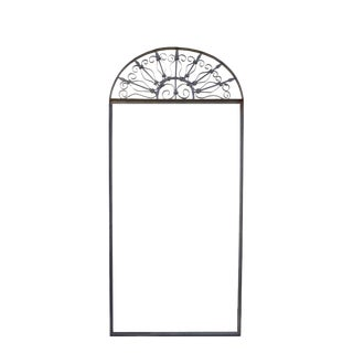 Vintage Ornate Wrought Iron Door Arch Frame Patio Garden Element For Sale