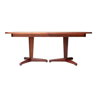 1950's Vintage Brown Saltman Walnut Dining Table For Sale