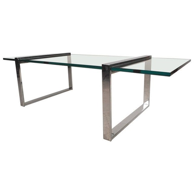 Mid-Century Modern Milo Baughman Style Mid-Century Modern Chrome Coffee Table For Sale - Image 3 of 7