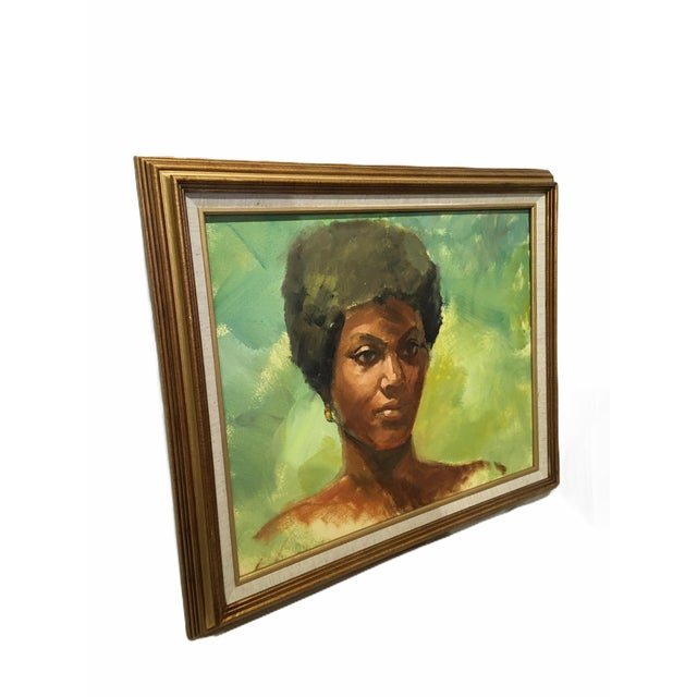 Vintage mid-century framed portrait of a woman by California artist Dolores Pharr Smith who painted under the name D'Pharr...