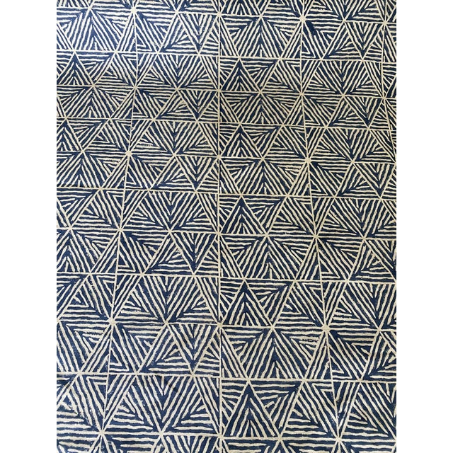3 Yards Thibaut Mombasa Linen Fabric Pattern MOMBASA Printed Fabrics Backing Recommended for upholstery Finish Nano/Defend...