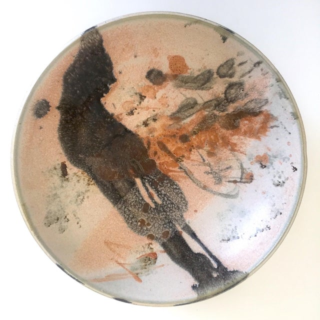 Vintage Mid Century Modern Studio Pottery Abstract Expressionist Signed Ceramic Bowl For Sale - Image 13 of 13