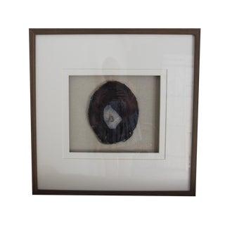 Driftwood Framed Natural Agate Slice For Sale