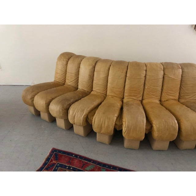 """1960s Monumental De Sede Ds600 """"Non-Stop"""" Snake Sofa For Sale - Image 5 of 9"""