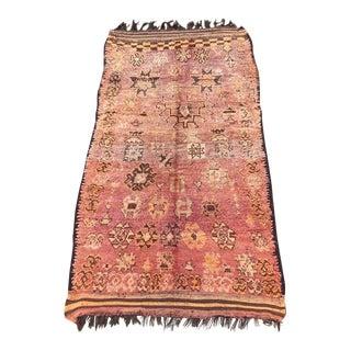 1970s Vintage Moroccan Boujaad Rug-4′11″ × 10′10″ For Sale