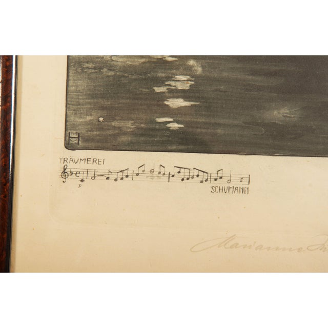 Marianne Hitschmann-Steinberger Etching From 1900 Set of Two For Sale - Image 6 of 10