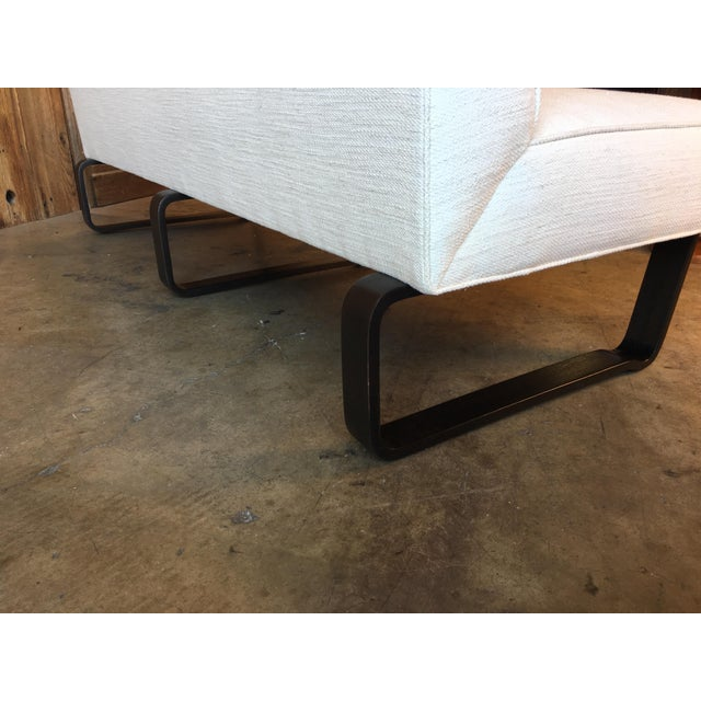 Vintage Mid Century Edward Wormley for Dunbar Slipper Sofa For Sale In Los Angeles - Image 6 of 13
