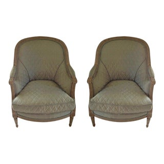 Pair of 19th Century French Bergeres For Sale