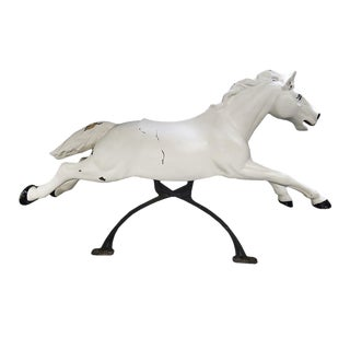 20th Century Americana White Fiberglass Horse Figurine For Sale