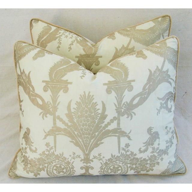 Designer Italian Fortuny Lamballe Pillows - Pair - Image 2 of 11
