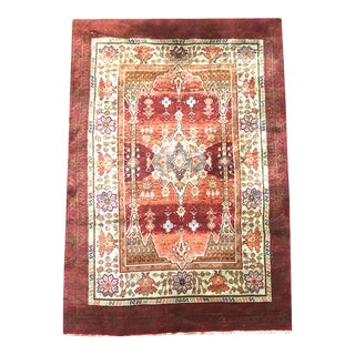 1920s Antique Indian Agra Rug For Sale