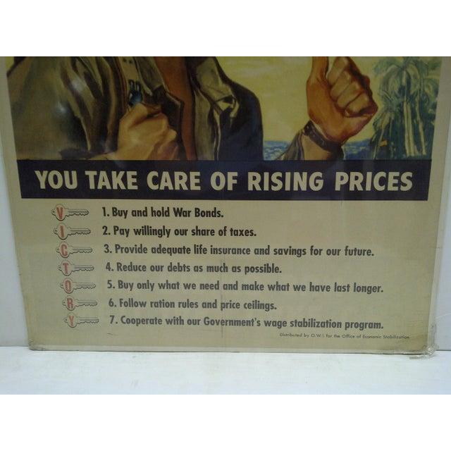 Vintage World War II War Bonds Poster For Sale - Image 5 of 6
